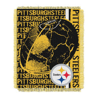 Pittsburgh Steelers NFL Triple Woven Jacquard Throw (Double Play) (48x60)