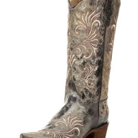 Women's Circle G by Corral Distressed Filigree Snip Toe Boot - Antique Brass