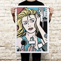 Pop Art Comic Print Poster
