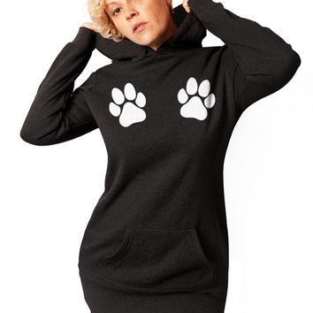 Dog Paws, Paw Prints, Gift for Dog Lover, Dog Paw Shirt, Dog Mom, Sweatshirt, Womens, Tunic, Sweatshirt Dress, Funny Sweatshirt, Gift for her