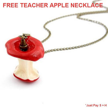 New Half-Eaten Teachers Apple