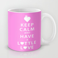 Keep Calm and Have a Lottle Love Pink Mug by Lottle
