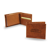 Seattle Seahawks NFL Embossed Leather Billfold