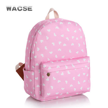 Korean Casual Canvas Stylish Pink Fashion Backpack = 4887484036