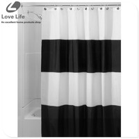 Bathroom Products Polyester fabric shower curtain stripe Printed Shower Curtains Waterproof Washable Curtain shower 180x180cm