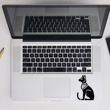 Egyptian Cat MacBook Decal, Cat Laptop Sticker, Vinyl Sticker, MacBook Decals, Egypt Sticker, Ethnic Bastet Car Bumper Decal, Die Cut Decal