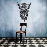 Mystic owl vinyl wall decal, wall sticker, decal, graphic, vinyl decal, sticker, wall art, home decor, housewares, graphic image