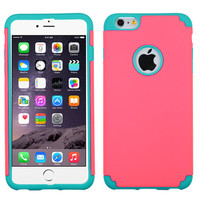 MYBAT Fusion Protector iPhone 6 Plus Case - Electric Pink/Teal