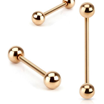 Rose Gold Industrial Piericing Barbell 14ga Surgical Steel Body Jewelry Piercing Jewelry Upper Ear