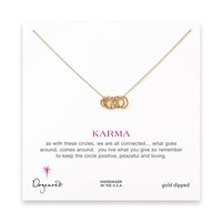 small multi-link sparkle karma necklace, gold dipped