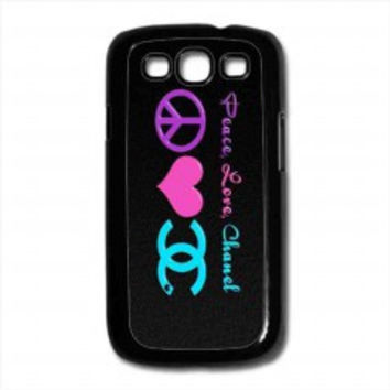 Peace Love Chanel for samsung galaxy s3 case