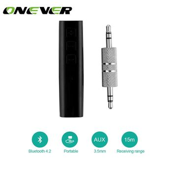 Onever Universal Mini Wireless Bluetooth Car Kit Handsfree 3.5mm Jack Bluetooth Audio Receiver Adapter AUX for Speaker Headphone