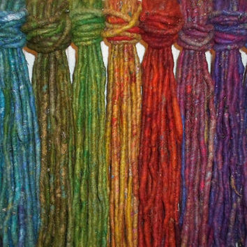 10 PicK N MiX DE DREADLOCKS Choose Your Colours Ten Double Ended Dreads Festival Tribal Faery Pixie Dread Locks Hair Extension Dreads Psy
