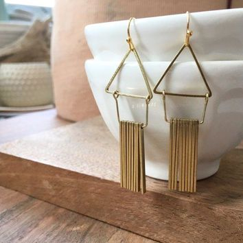 Fate & Coincidence - Flutter Triangle Earrings