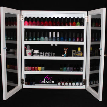 Nail Polish Rack - Large Roxy w/ Door - Bead, craft, paint storage