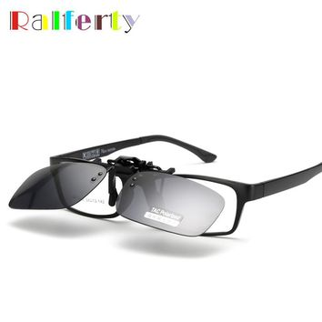 Ralferty Quality Polarized Clip On Sunglasses Men Sport Driving Night Vision Clip Anti UVA Sun Glasses Women Oculos Gafas De Sol