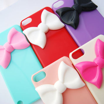 Sale: YOU CHOOSE IPod Touch 5 Pastel Large Bowtie Candy Colors Rainbow Designer Elegant Decoden Case
