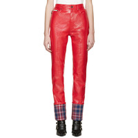 Red Coated Stovepipe Trousers