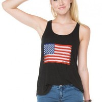 Brandy ♥ Melville |  Kay American Flag Embroidery Tank - Just In