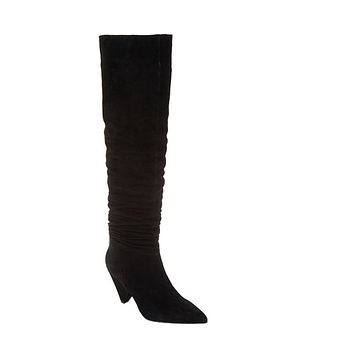 Marc Fisher Paige Black Suede Slouch Over the Knee Boots