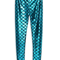Fish Scale Print Leggings