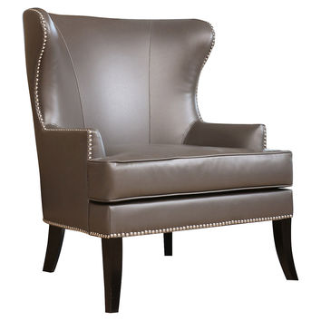 Vienna Leather Wingback Chair, Wingbacks