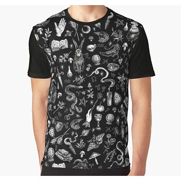 All Over Print 3D Tshirt Men Funny T Shirt  Salem Witch in Black Graphic T-Shirt