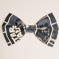 Star Wars Hair Bow • Star Wars Fabric Bow • Sci-Fi Hair Bow • Geekery Hair Bow • Women's Fashion • Gifts For Women • C3PO R2D2 Bow