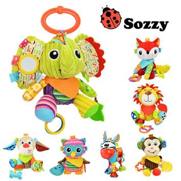 SOZZY 7 Designs Multifunctional Baby Rattles Cartooon Bell Infant Bed Crib Baby Crib Stroller Hanging Soft Plush Baby Toys