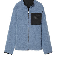 Reversible Sherpa Full-Zip - PINK - Victoria's Secret