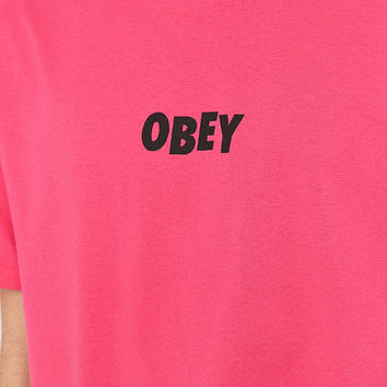Obey Jumbled Hot Pink Tee - Urban Outfitters