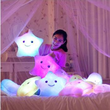 Light up Star Pillow Kids -  Toys For Girls - Free Shipping