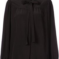 Saint Laurent Pussy Bow Blouse - Farfetch