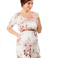 A Pea in the Pod: Elbow Sleeve Scoop Neck Belted Maternity Tunic