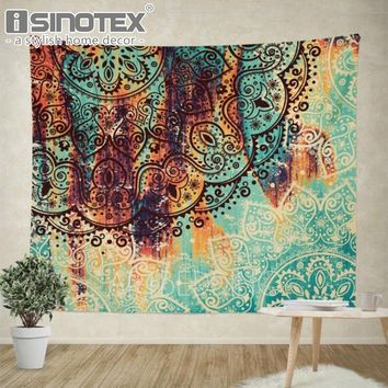 Bohemian Wall Decor Hippie Tapestries Boho Mandala Tapestry Gypsy Wall Hanging Throw Blanket Home Art Decor Bedspread 2 Sizes
