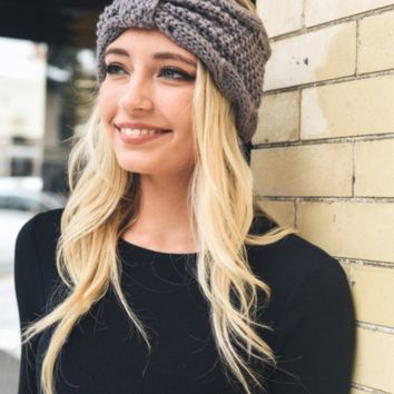Rolled Bow Knit Headband - 4 Colors!