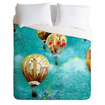 Land Of Lulu Herd Of Balloons 2 Duvet Cover