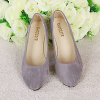 New Womens Lady Boat Shoes Casual Flat Ballet Slip On Flats Loafers Single Shoes