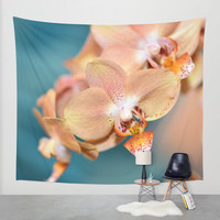 Orchid Ocean Wall Tapestry by Lisa Argyropoulos