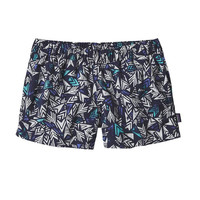 """Patagonia Women's Barely Baggies 2.5"""" Shorts- Quiver and Quill- Navy Blue"""