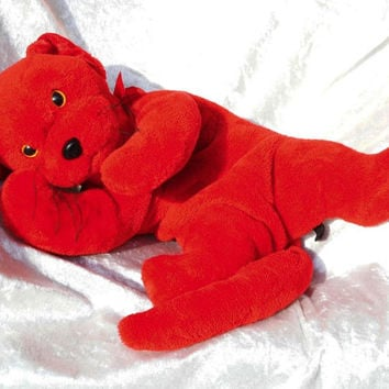 MADE-TO-ORDER ~ Red Cuddly Cat Bear - Soft floppy stuffed plush Toy Animal Panther cat-bear teddy puppy kitten Valentines Day Handmade Ooak