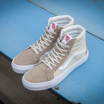 Vans Vault Og Sk-Hi Lx Creamy-white High Top Sneaker Flats Shoes Canvas Sport Shoes
