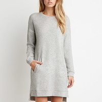 Drop-Sleeve French Terry Dress