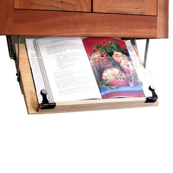 Under Cabinet Mounted Cookbook Holder - Wood - Made in the USA