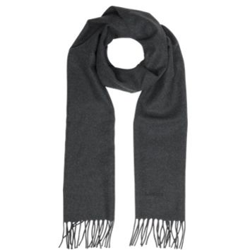 Lanvin Designer Men's Scarves Solid Fringed Wool Men's Scarf