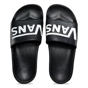 VANS - WOMENS LEATHER SLIDE-ON