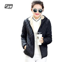 New Spring Autumn Women Jacket Casual Cotton Hooded Coats Plus Size Parka Slim Abrigos Lattice Parkas Quilted Overcoat