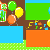 Personalized 12X12 Premade Scrapbook Layout or Kit //1st Birthday//First Birthday//Boy//You add Name