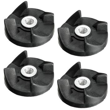 4Pcs Black Rubber Gear Spare Replacement Parts for Magic Bullet Cross and Flat Blade