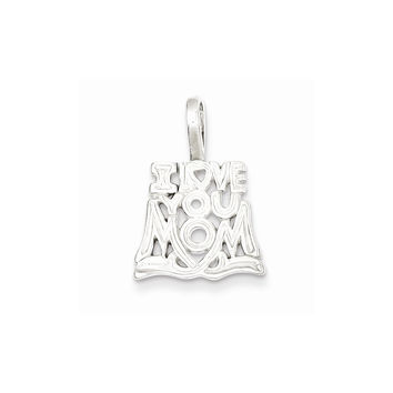 Sterling Silver I Love You Mom Pendant